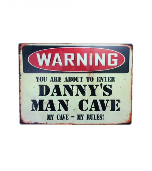 Gepersonaliseerde Mancave sign - metalen bord