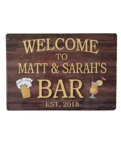 Gepersonaliseerde Welcome - metalen bord