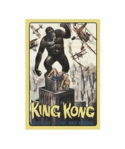 King Kong - metalen bord
