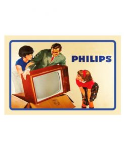 Philips TV - metalen bord