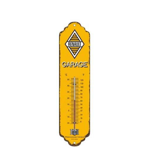 Renault geel logo thermometer