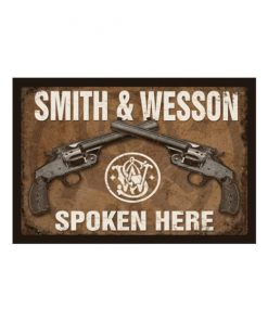 Smith & Wesson spoken here - metalen bord