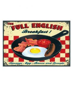 The full English breakfast - metalen bord