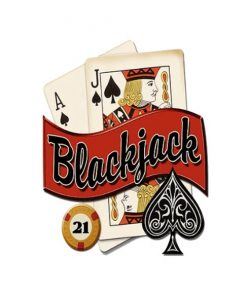 21 blackjack - metalen bord