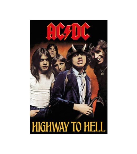 AC/DC highway to hell - metalen bord