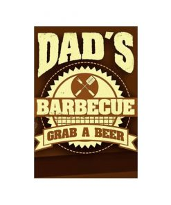 Grab a beer Dad's BBQ - metalen bord