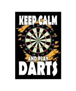 Keep calm and play darts - metalen bord