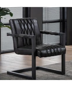 Lima fauteuil industrieel antraciet