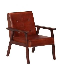 Malm fauteuil bruin leer