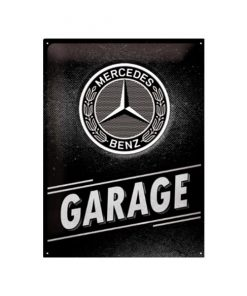 Mercedes Garage - metalen bord