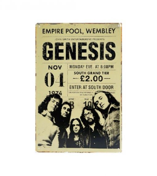 Genesis Empire pool - metalen bord