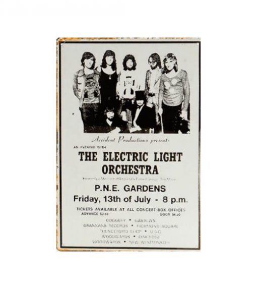 The electric light orchestra - metalen bord