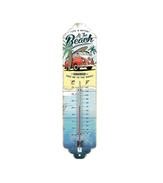 Volkswagen life is better at the beach thermometer