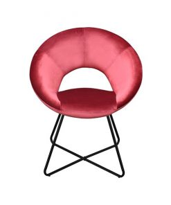 Bella velours fauteuil rood