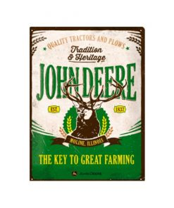 John Deere great farming - metalen bord