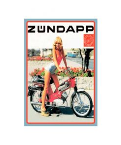 Zundapp girl - metalen bord