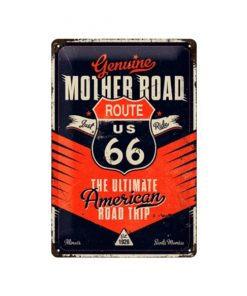 Route 66 Genuine mother road - metalen bord