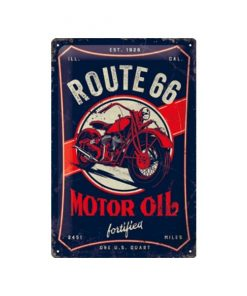 Route 66 motor oil - metalen bord