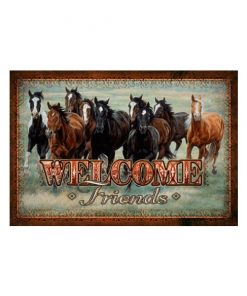 Welcome horses - metalen bord