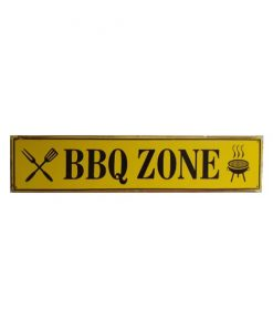 Bbq zone - metalen bord