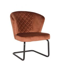 Fauna fauteuil velours roest