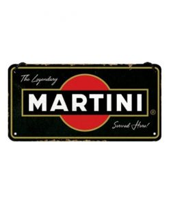 Legendary Martini - metalen bord