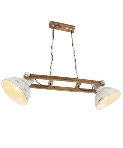 Malone hanglamp 2-lichts wit