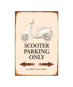 Scooter metalen parkeerbord
