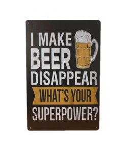 What is your superpower? - metalen bord