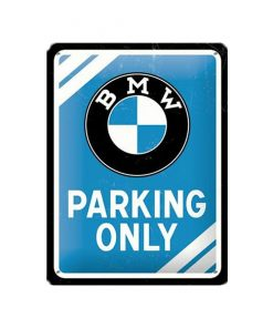 BMW parking only 15cm x 20cm - metalen bord