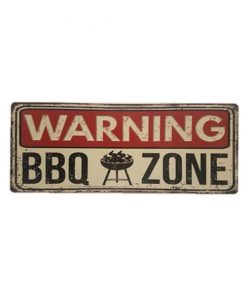 Bbq zone warning - metalen bord