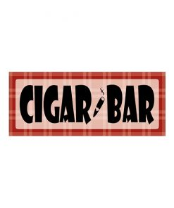 Cigar bar - metalen bord