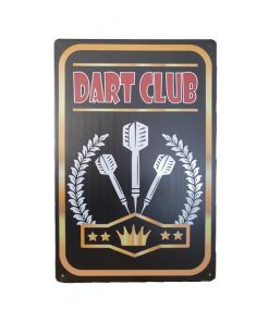 Dart club - metalen bord