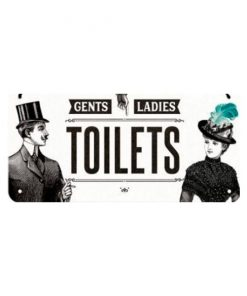 Gents, Ladies toilets - metalen bord