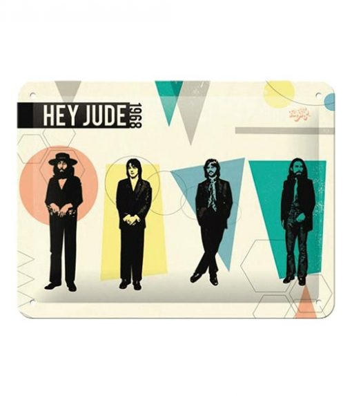 Hey judge 1968, the Beatles - metalen bord