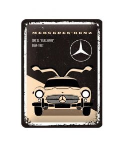 Mercedes-Benz 300 SL Gullwing - metalen bord