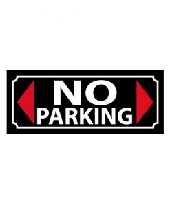 No Parking zone - metalen bord
