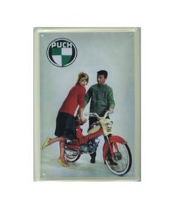 Puch brommer - metalen bord