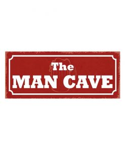The MAN CAVE - metalen bord