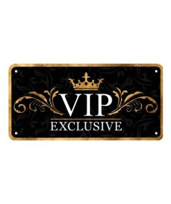 Vip Exclusive lounge - metalen bord