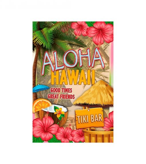 Aloha Hawaii bar - metalen bord