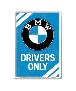 BMW drivers only - metalen bord