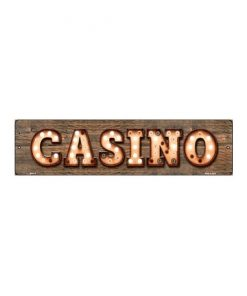 Casino - metalen bord