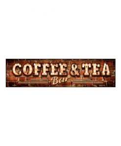 Coffee & tea bar - metalen bord