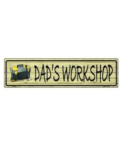 Dad's workshop - metalen bord