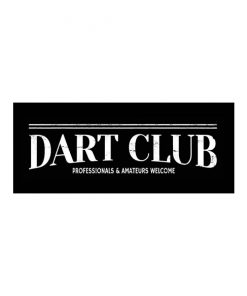 Dart club, everybody welcome - metalen bord