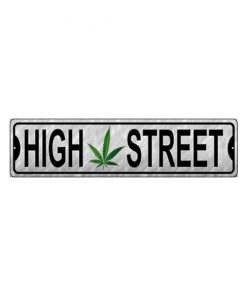 High street - metalen bord