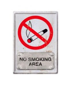 No smoking area 10cm x 14cm - metalen bord