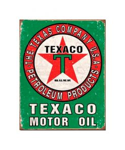 Texaco motor oil - metalen bord
