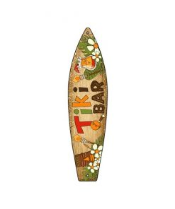 Tiki bar surfplank - metalen bord